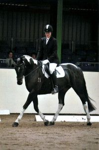 Kali doing dressage